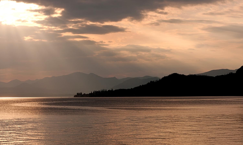 Gardasee im Abendlicht ...