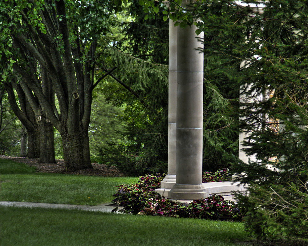 Garden Pillars in the rain Image Photo by Marcie Hixson from A
