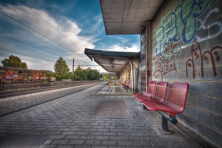 Gare de Courcelles Motte (Belgique) - HDR