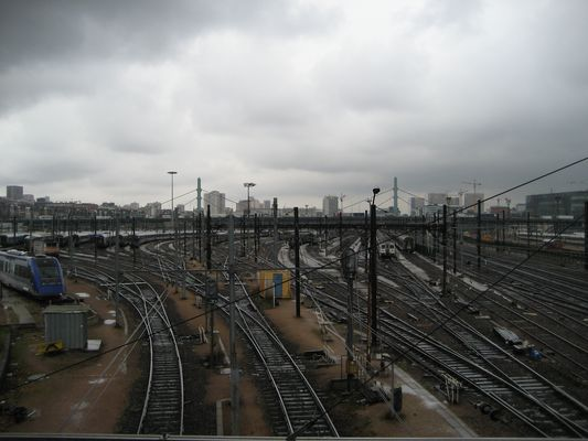 Gare de triage à Vitry sur Seine