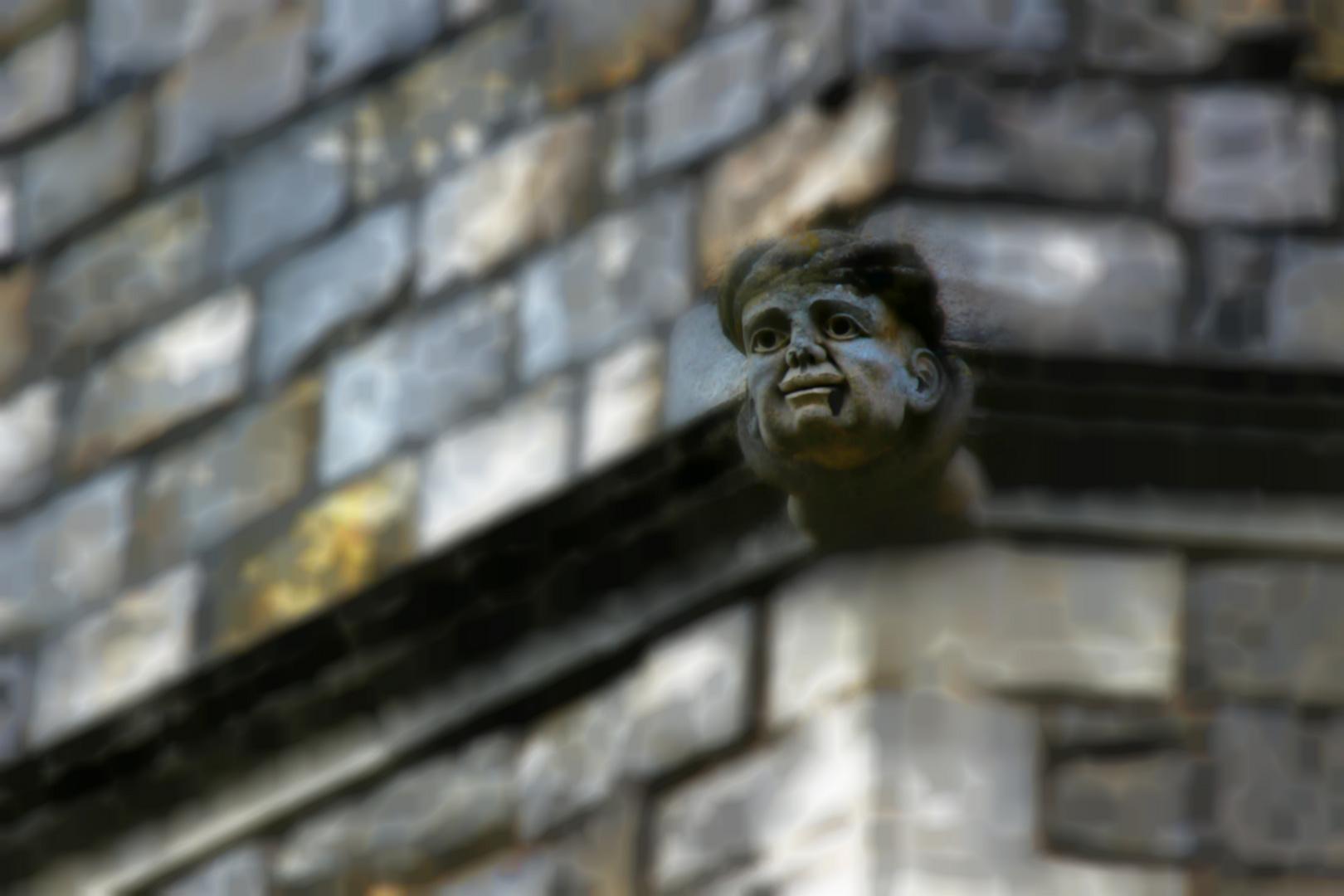 Gargoyle an der Fassade des Windsor Castle