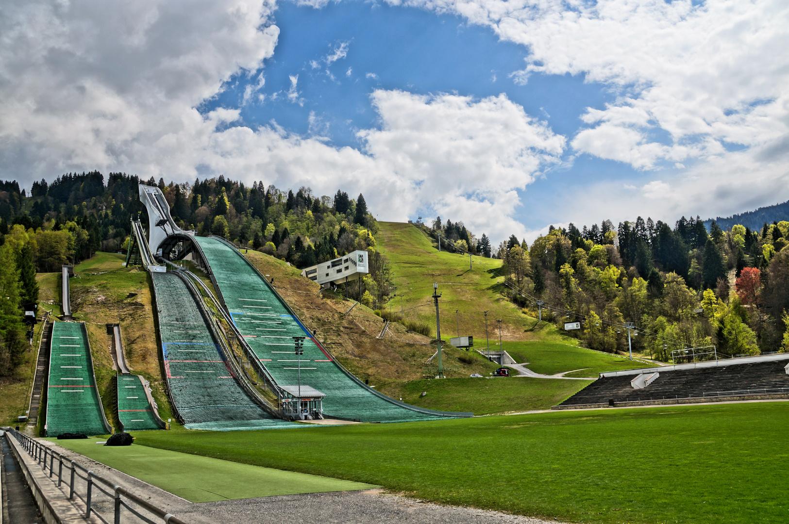 Garmisch-Partenkirchen nach dem Winter