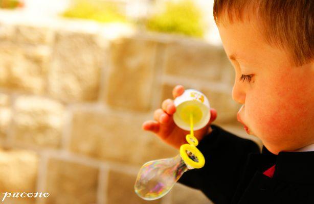 garçon et bulle