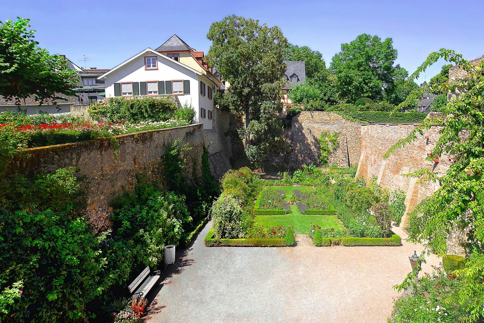 Garten der Kurfürstlichen Burg Eltville