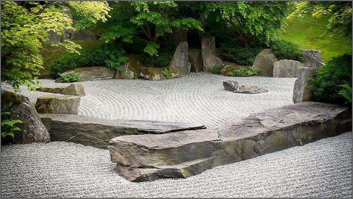 Garten des zusammenfließenden Wassers