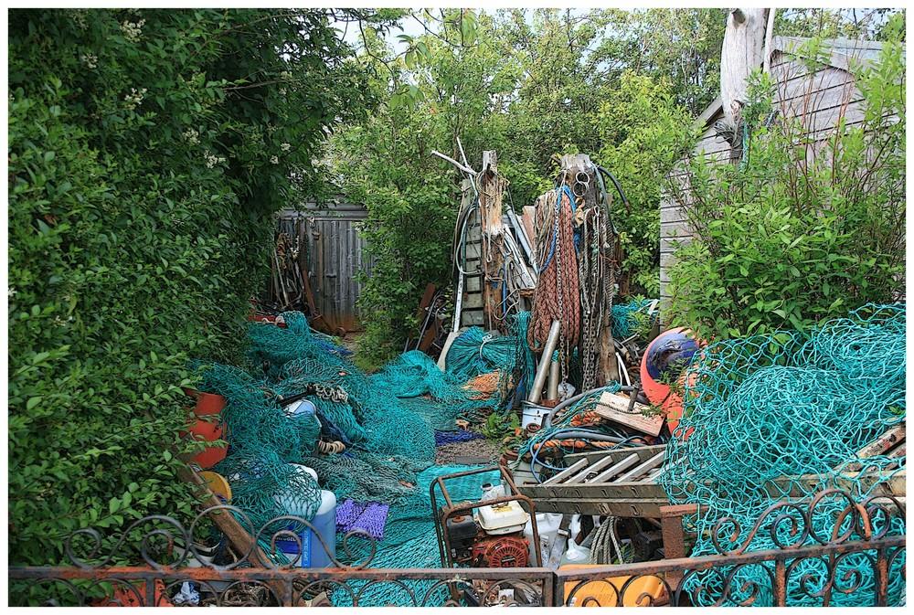 Garten eines Fischers in Ullapool
