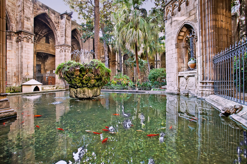 Gartenanlage der Kathedrale ...