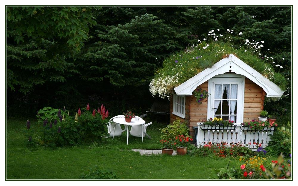 Gartenhäuschen auf norwegisch