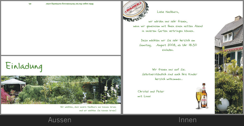 gartenparty foto & bild | karten und kalender, einladungen und, Einladung