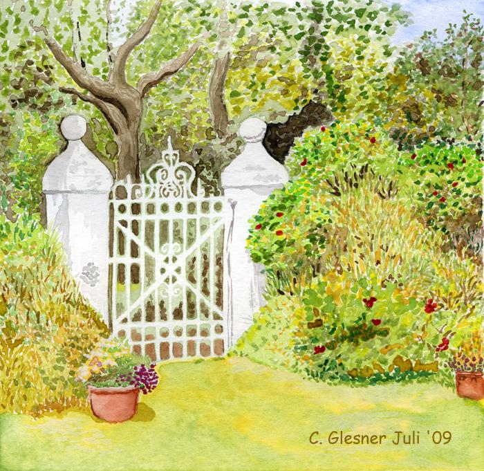 Gartentor nach einem Foto