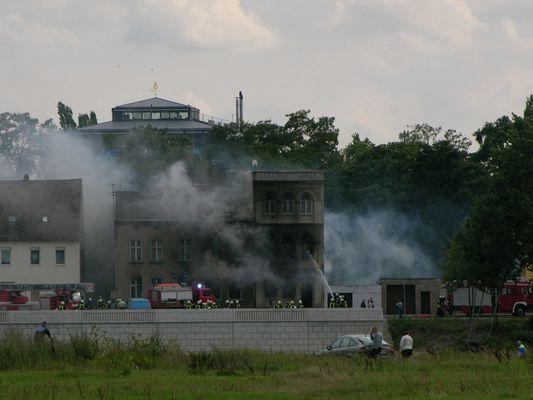 Gas - Explosion an der Elbe in Schönebeck am 09.08.2005