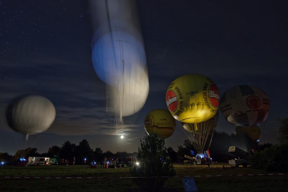 Gasballon beim Start