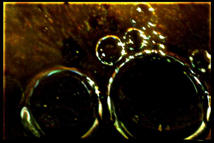 Gasblasen im Wasser