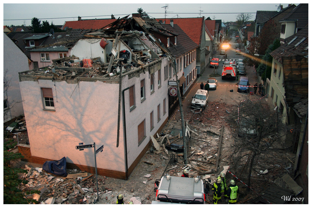 Gasexplosion in Frankfurt