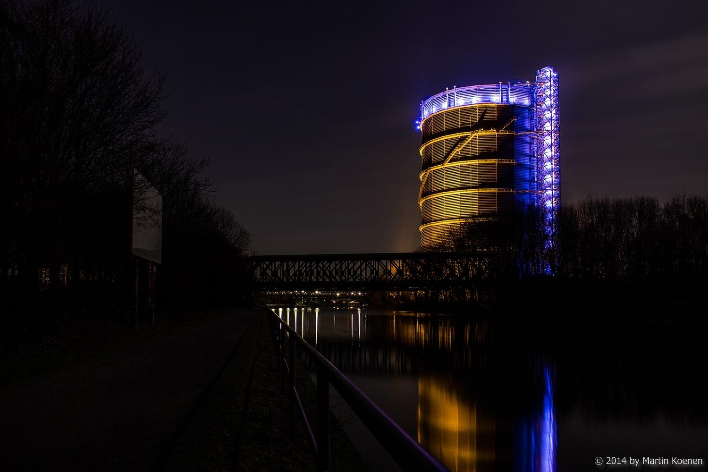 Gasometer Oberhausen nochmal ohne Werbung