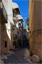 Gasse in Bari ...