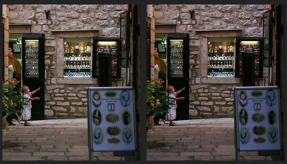 Gasse in Korcula/Dalmatien