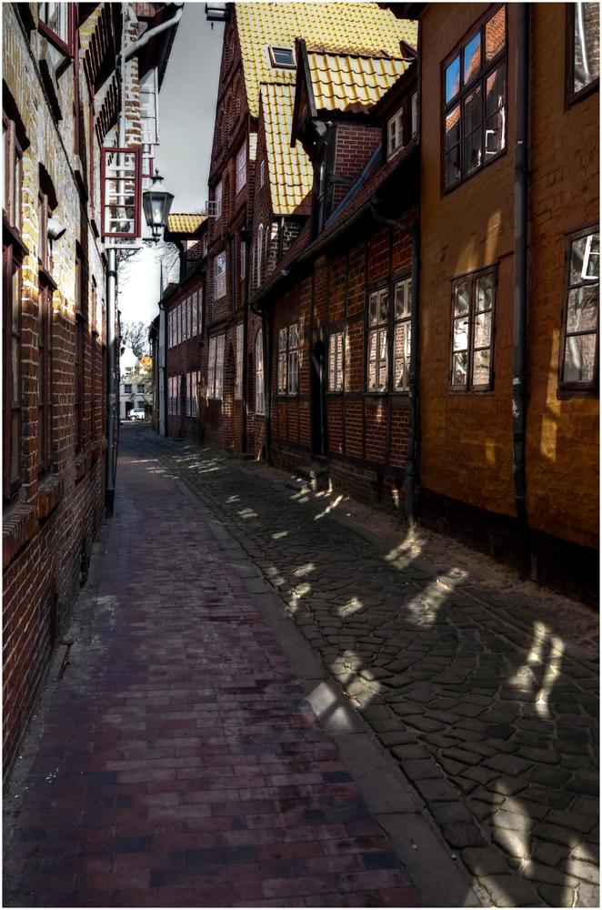 Gasse in Lüneburg .