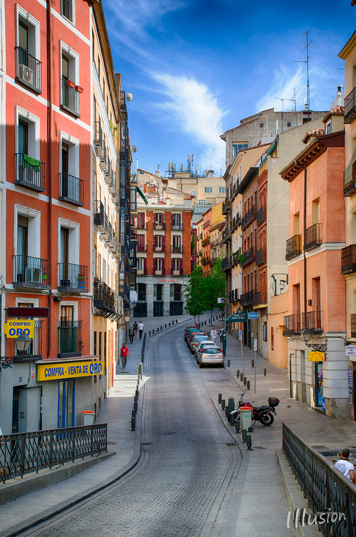 Gasse in Madrid