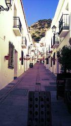 Gasse in Malaga, Spanien