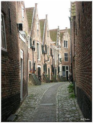 Gasse in Middelburg auf Walcheren