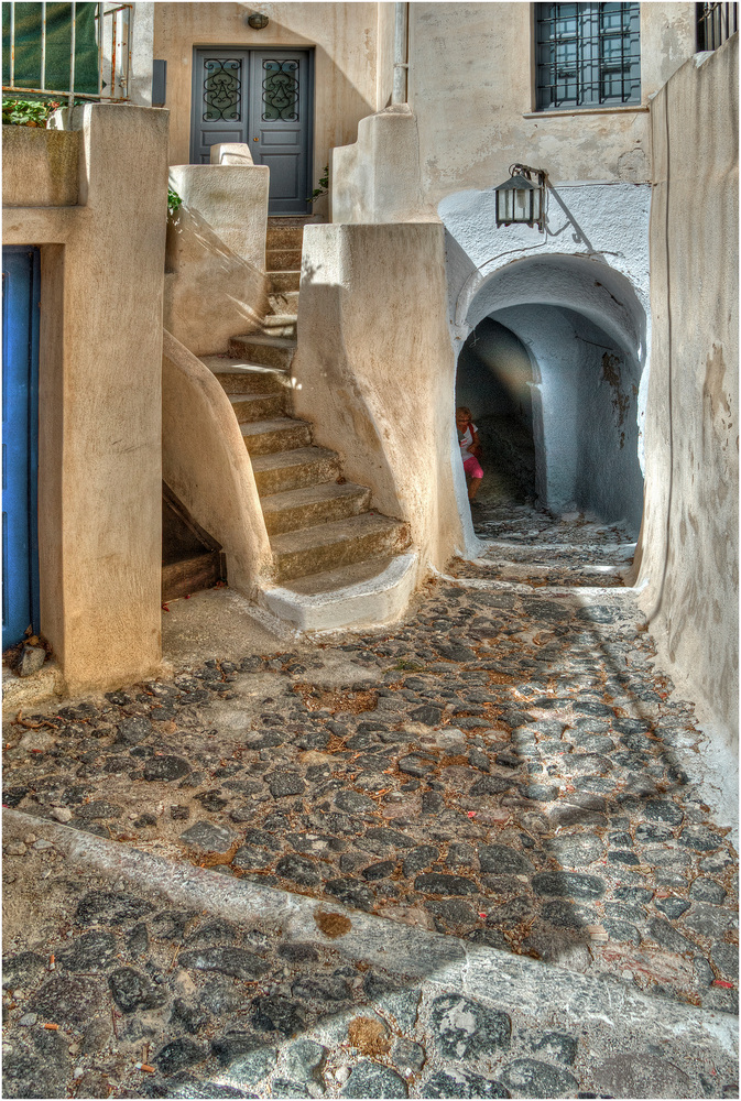 Gasse in Pyrgos, Santorin