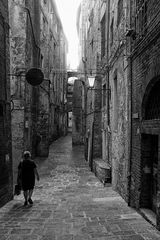 Gasse in Siena (Toskana)