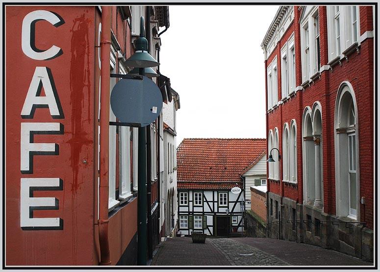 Gasse in Warburg (Objektivtest)