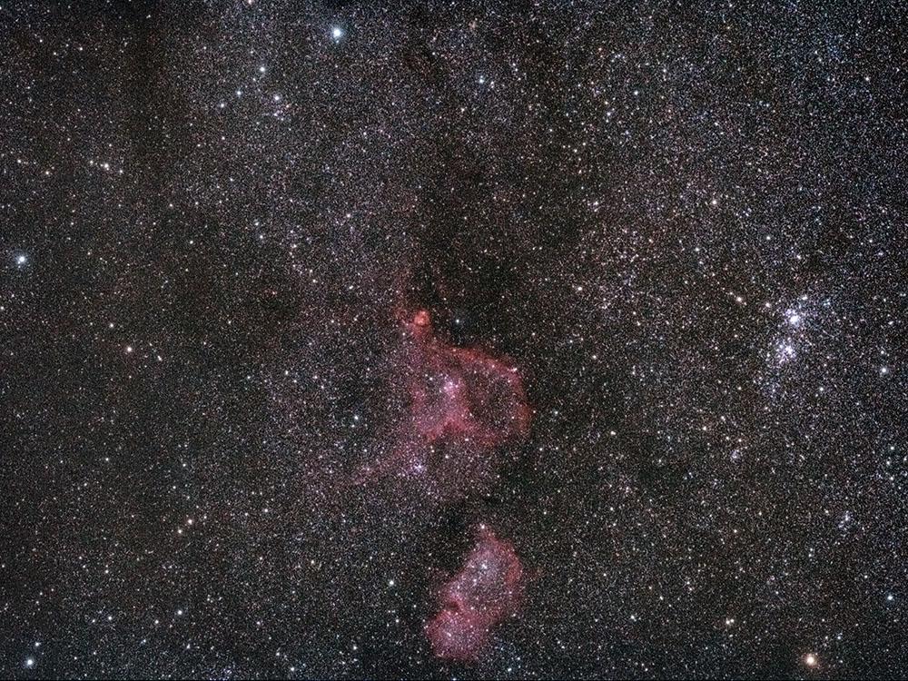 Gas,Staub und tausende Sterne