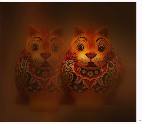gatos de colores para...