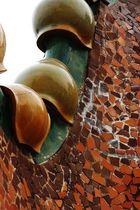 Gaudi's Mosaic details on the roof of Casa Batllo