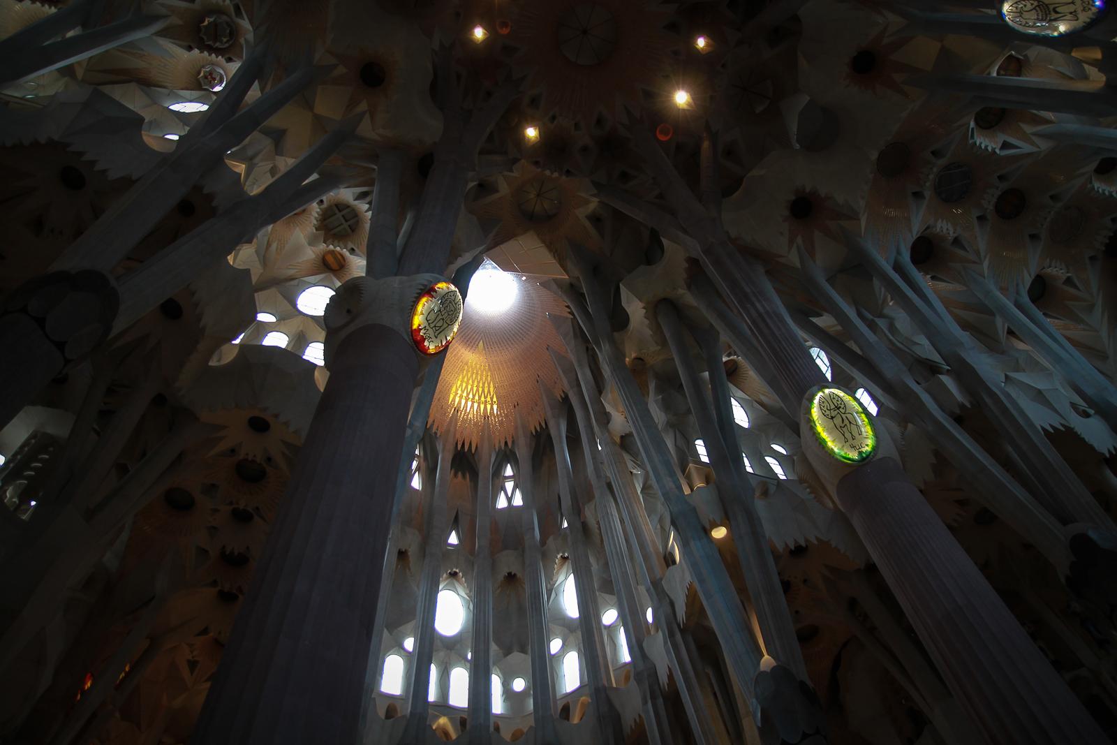 Gaudi's unvollendete Sagrada Familia