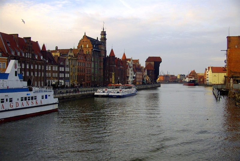 Gdańsk port on Baltic Sea