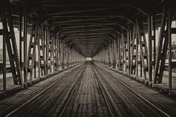 Gdanski Bridge in Warsaw