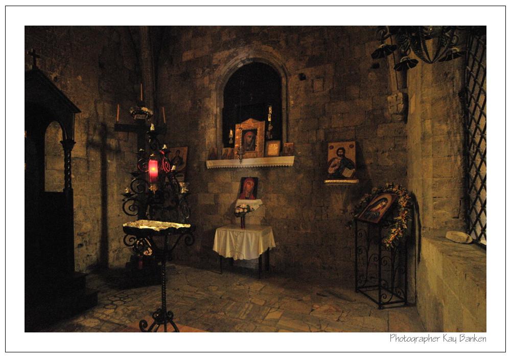 Gebetsaltar einer Kirche in Filerimos