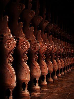 Gebetsstühle Reihe Kloster Maulbronn