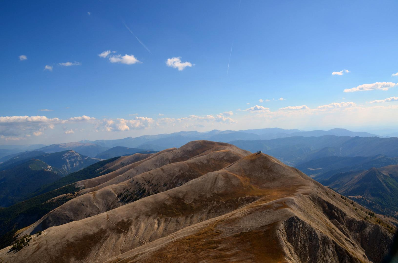 Gebirgsreihe in Süd-Frankreich (Süd-Alpen)