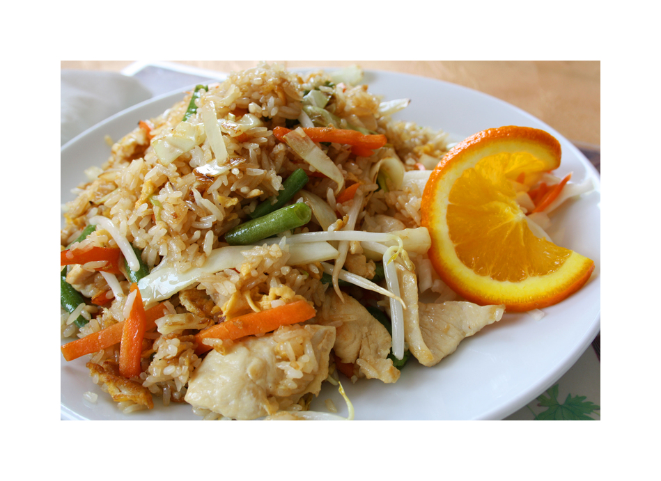 gebratener Asia Reis....