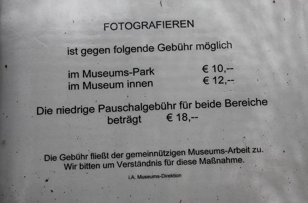 Gebühren fürs Fotografieren