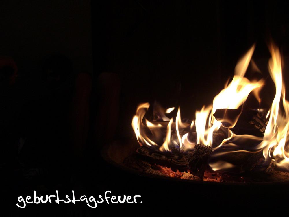 geburtstagsfeuer