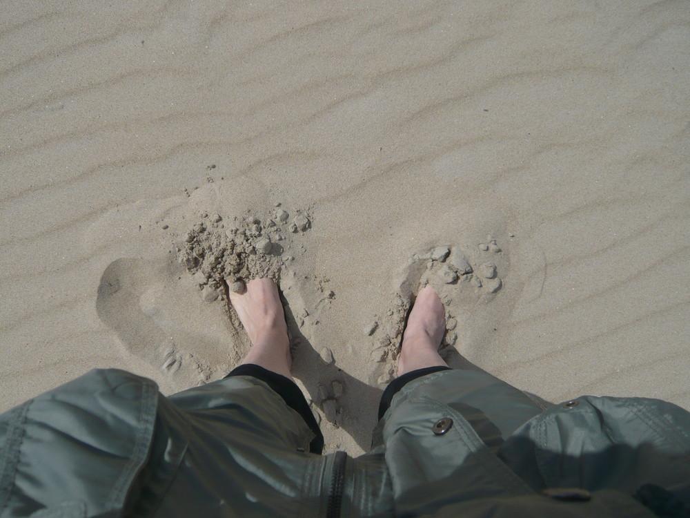 Gedanken im Sand