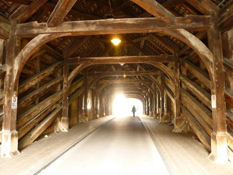 Gedeckte Holzbrücke Baden ...