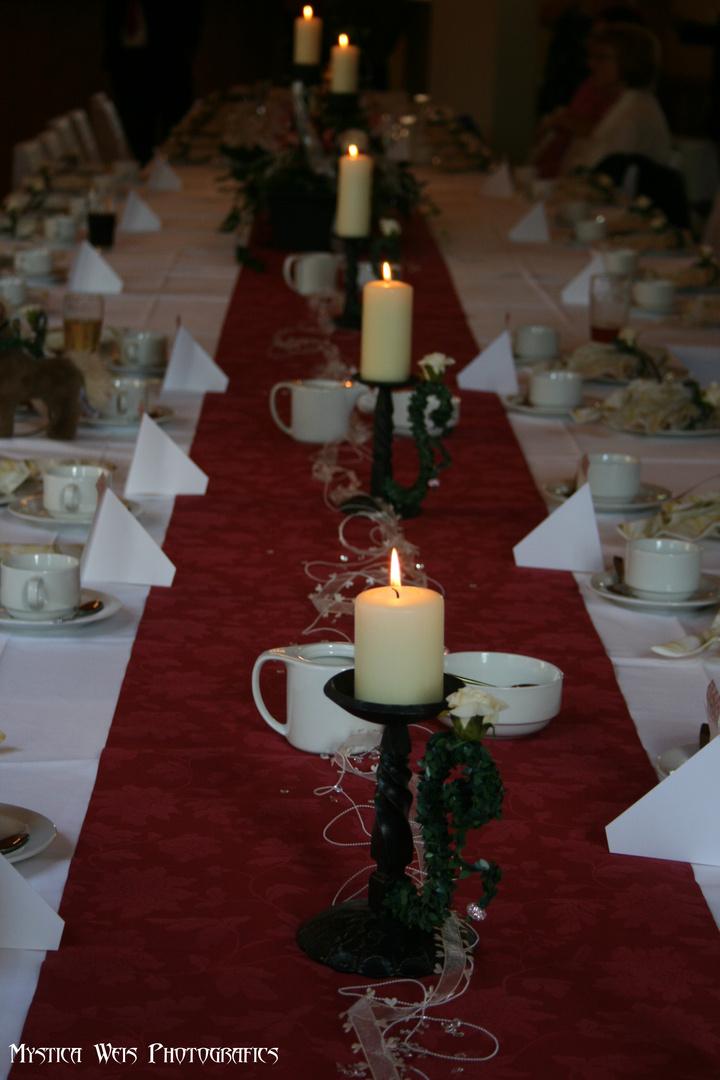 Gedeckter Tisch (Hochzeit)