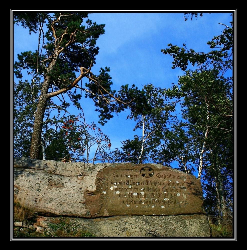 Gedenkstein für deutsche Soldaten am petit Donon