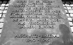 Gedenktafel Auschwitz/Birkenau