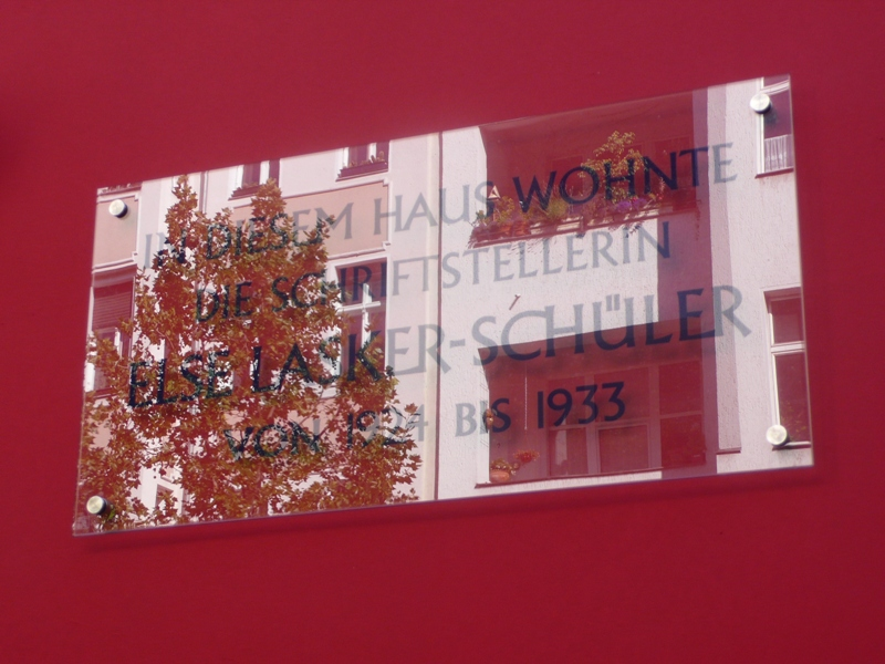 Gedenktafel Else Lasker-Schüler (s. auch u.)