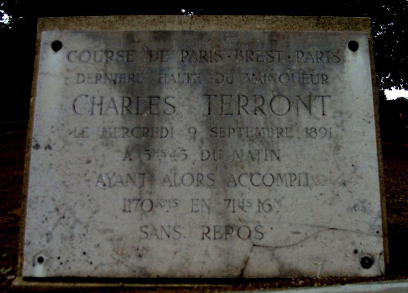 Gedenktafel für ein großes Vorbild aus der Vergangenheit - Commemorative board for a great precedent