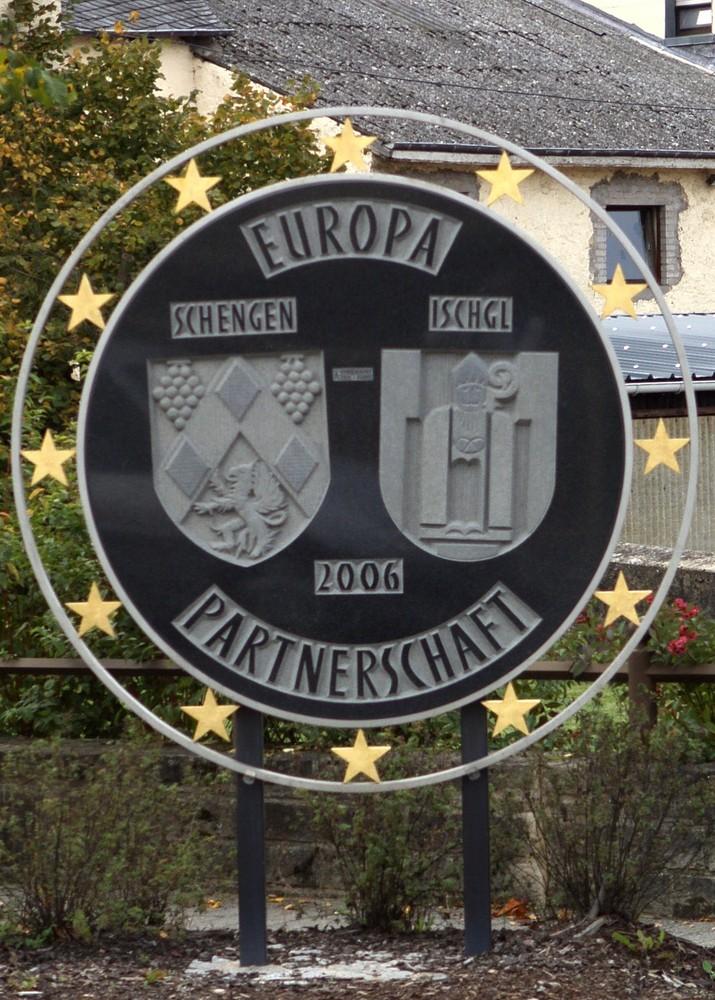 Gedenktafel in Schengen