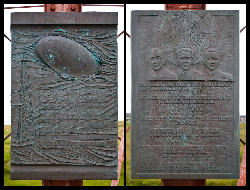 Gedenktafeln für die Polarforscher