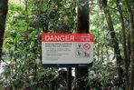 Gefahr in der Mossman Gorge